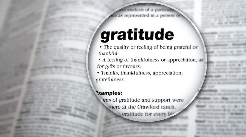 Gratitude to the Rescue